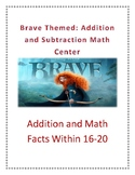 Brave Themed: Addition and Subtraction Math Centre (Within 16-20)