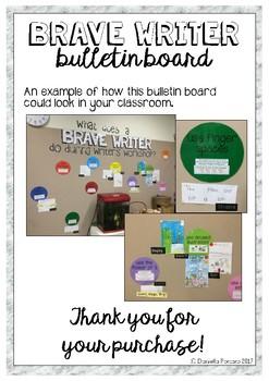 Brave Writer Bulletin Board Display