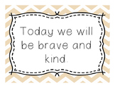 Brave and Kind: Classroom Poster