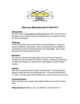 Brave as a Mountain Lion STEM Children's Engineering Design Brief