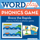Brave the Rapids Short A / CVCe A Phonics Game - Words The