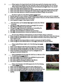Braveheart Film (1995) 15-Question Multiple Choice Quiz