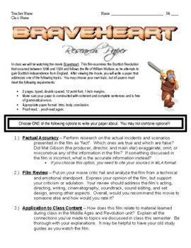Braveheart Research Paper