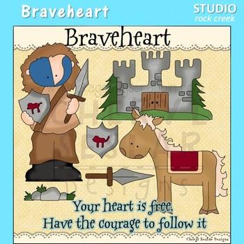 Braveheart Scotland History Color Clip Art  C. Seslar