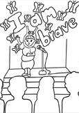 Bravery Affirmation Coloring Page