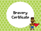 Bravery Certificate