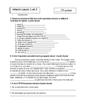Bravo French textbook Chapter 6 French 4 Assessment pack
