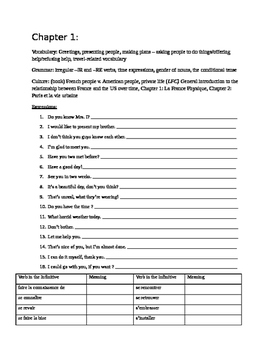 Bravo French textbook Overall Review Packet