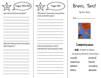 Bravo Tavo! Trifold - Treasures 5th Grade Unit 6 Week 2 (2011)
