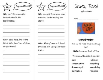 Bravo Tavo! Trifold - Wonders 3rd Grade Unit 5 Week 2