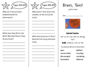 Bravo Tavo! Trifold - Wonders 3rd Grade Unit 5 Week 2