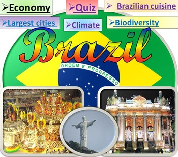 Brazil Power Point Presentation and  Quiz - Geography