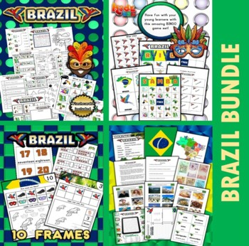 Brazil Classroom Center Activity Bundle