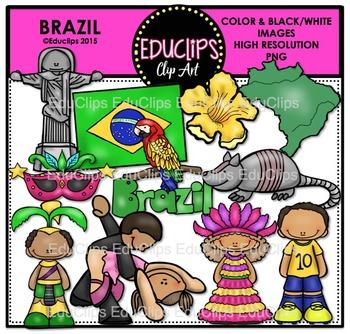 Brazil Clip Art Bundle {Educlips Clipart}