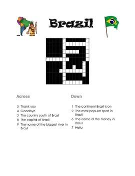 Brazil Crossword Puzzle