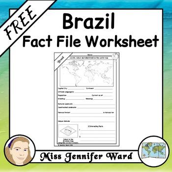 Brazil Fact File Worksheet FREE
