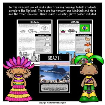 Brazil Country Study: A Mini-Unit & Brazil Flip Book