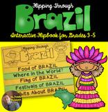 Brazil Flip Book: A Social Studies Interactive Activity for Grades 3-5