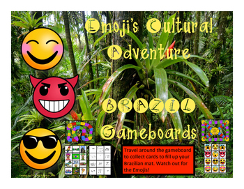 Brazil Game - Emoji's Cultural Adventure Gameboard