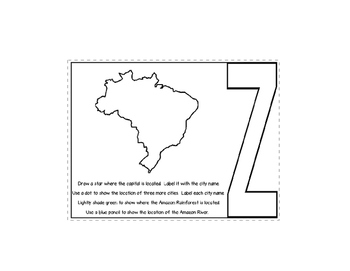 Brazil Geography Layered Book