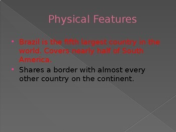 Brazil Geography Powerpoint
