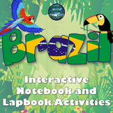 Brazil Interactive Notebook / Lapbook Activities Bundle with Test Prep Passage