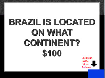 Brazil Jeopardy Game