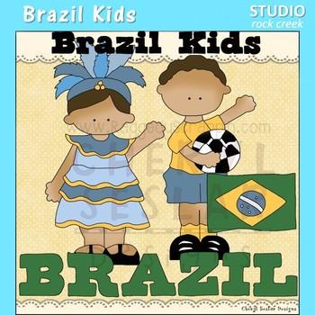 Brazil Kids Color Clip Art C. Seslar