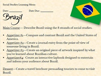 Brazil Lesson Plans and Interactive Notebook with Test Prep MEGA Bundle