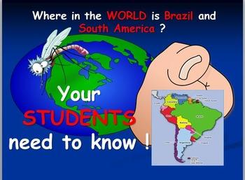 Brazil Map Activities and Zika Virus Article