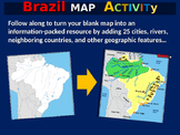 Brazil Map Activity- fun, engaging, follow-along 24-slide PPT