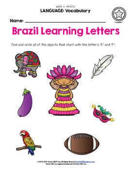 Brazil - Weekly Unit for Preschool, PreK or Homeschool