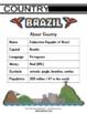 Brazil Themed Activity Set / Worksheets + Flashcards