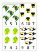 Brazil themed Count and Clip preschool math cards.  Daycare child care math.