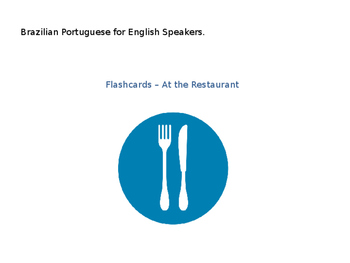 Brazilian Portuguese for English Speakers - Flashcards
