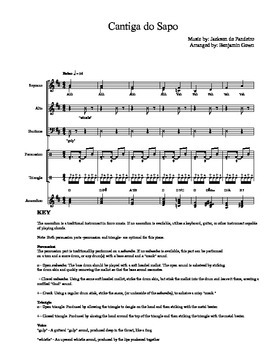 Brazilian music piece for SATB choir