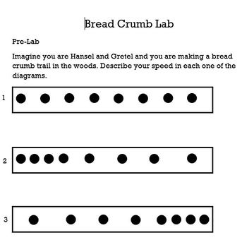 Bread Crumbs: Activities to teach acceleration