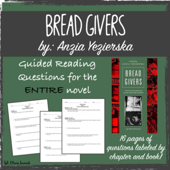 Bread Givers Guided Reading Questions