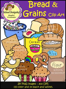 Bread & Grains Food Clip Art (School Designhcf)