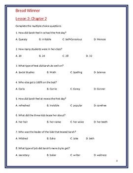 Bread Winner Study Guide