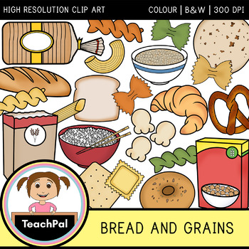 Bread and Grains Clip Art - Food Groups