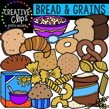 Bread and Grains {Creative Clips Digital Clipart}