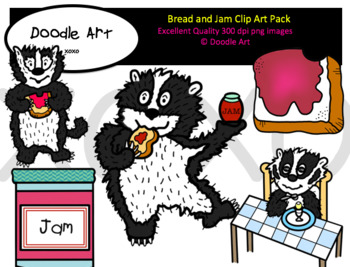 Bread and Jam Clipart Pack