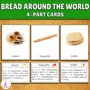 Bread around the World 3-part cards + description cards
