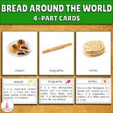 Bread around the World Montessori 3-part cards + descripti