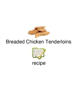 Breaded Chicken Tenderloins - picture supported text recipe