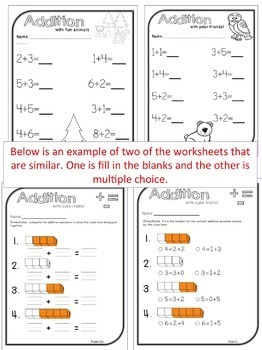 Breaking Down Numbers- Addition Goes well with GO MATH Kindergarten