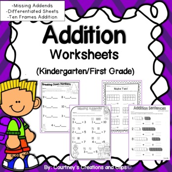 Breaking Down Numbers- Addition Goes well with GO MATH Kin