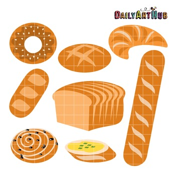 Breads Clip Art - Great for Art Class Projects!