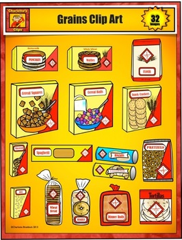 Food Clip Art from Grocery Store - Bread and Grains by Charlotte's Clips